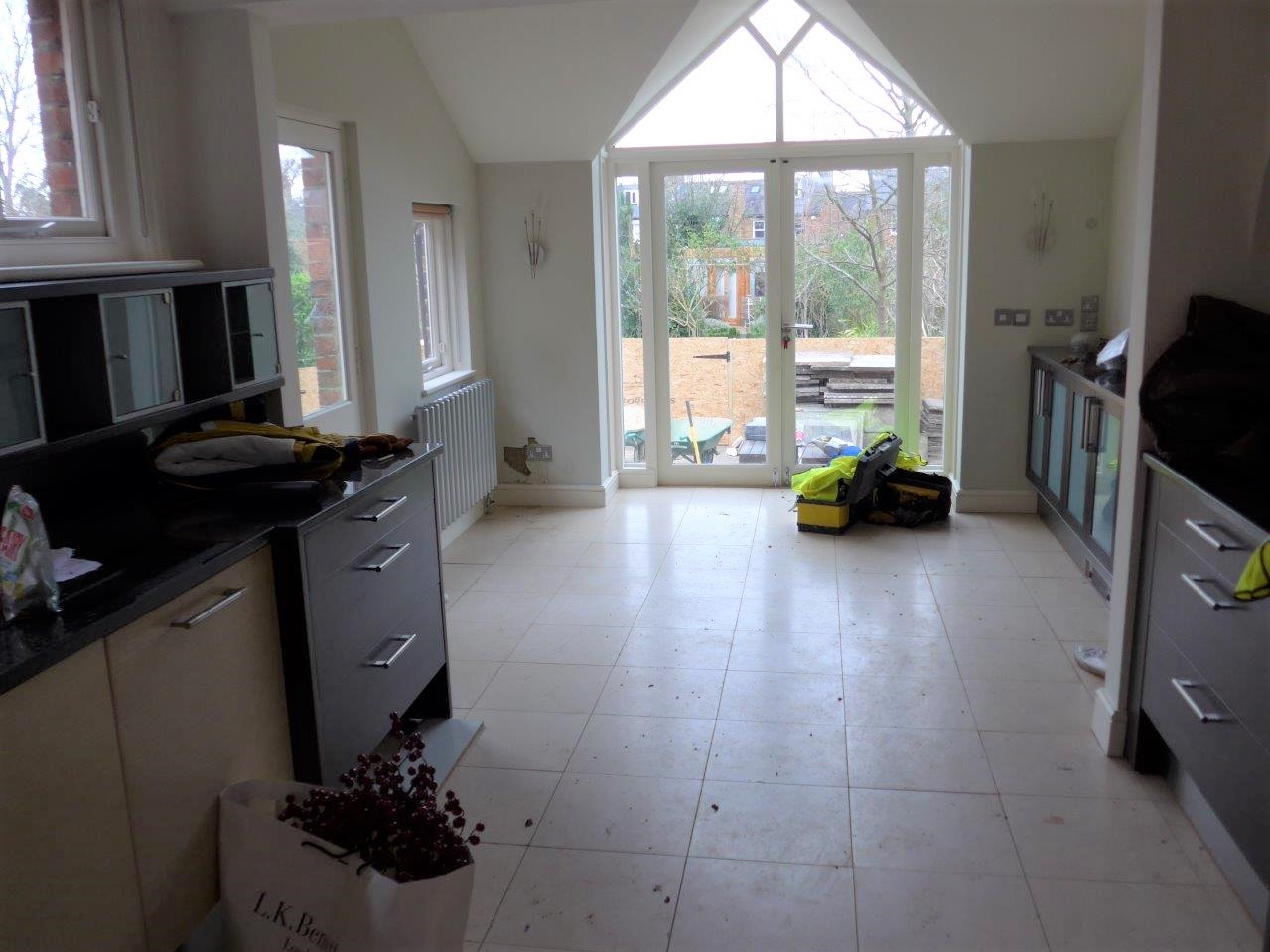 Kitchen before extension and renovation