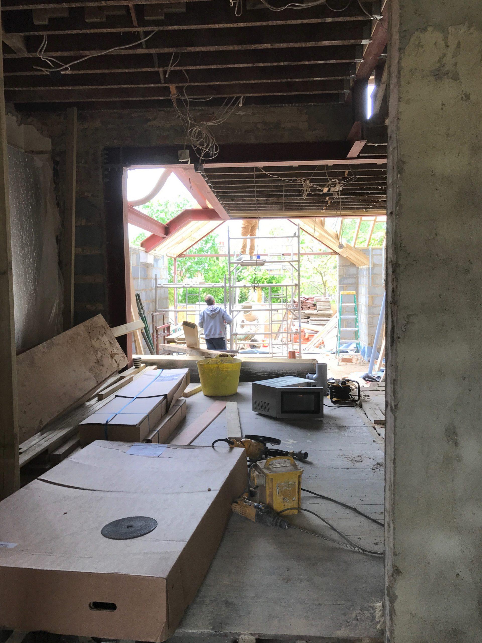 Kitchen extension construction