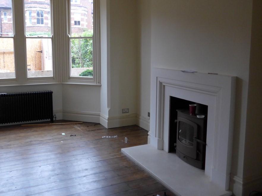Living room before refurbishment