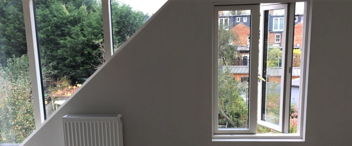 View from inside of a loft conversion