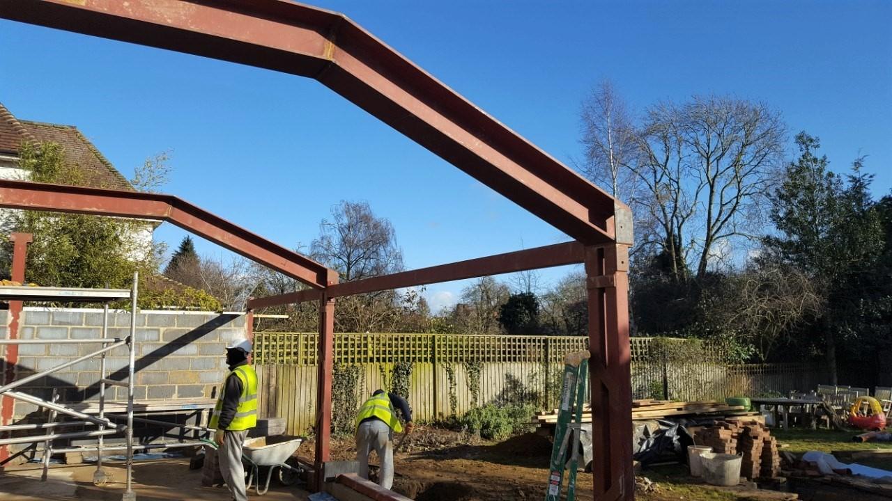 Extension construction work in progress