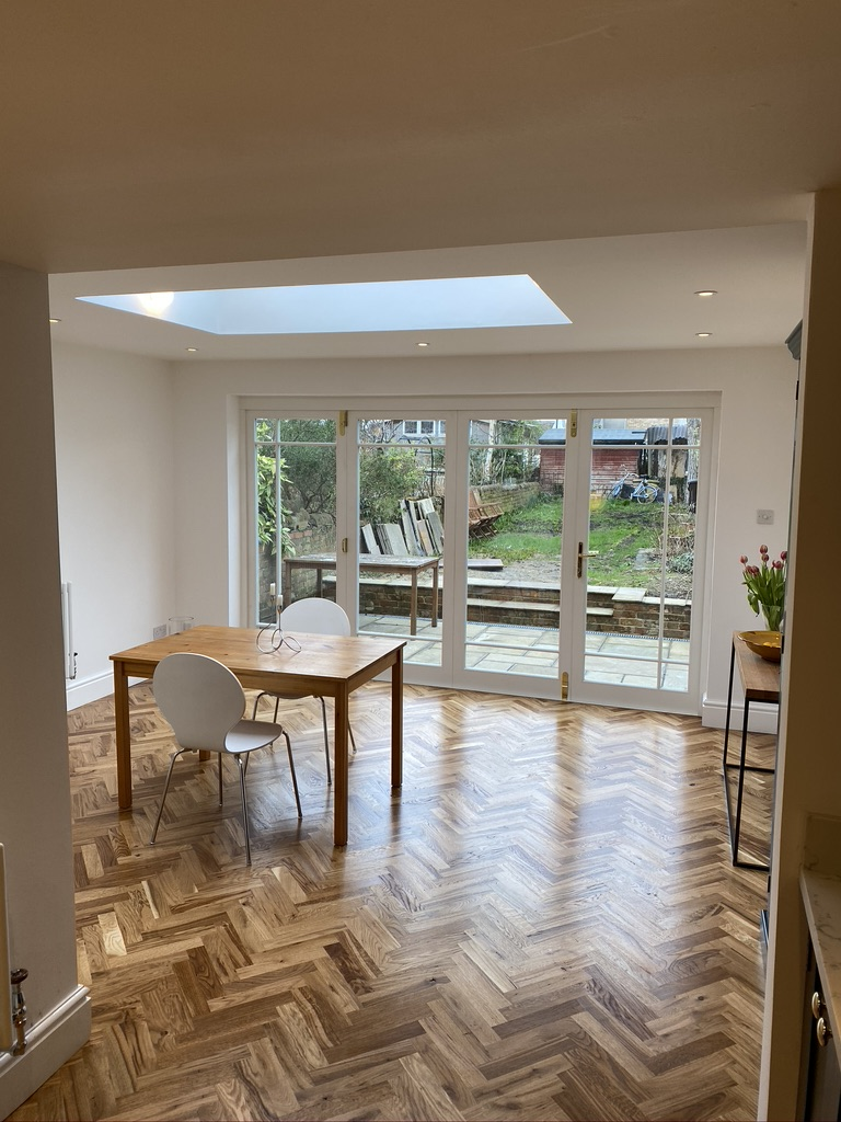 Cowley House Extension with Glass Doors