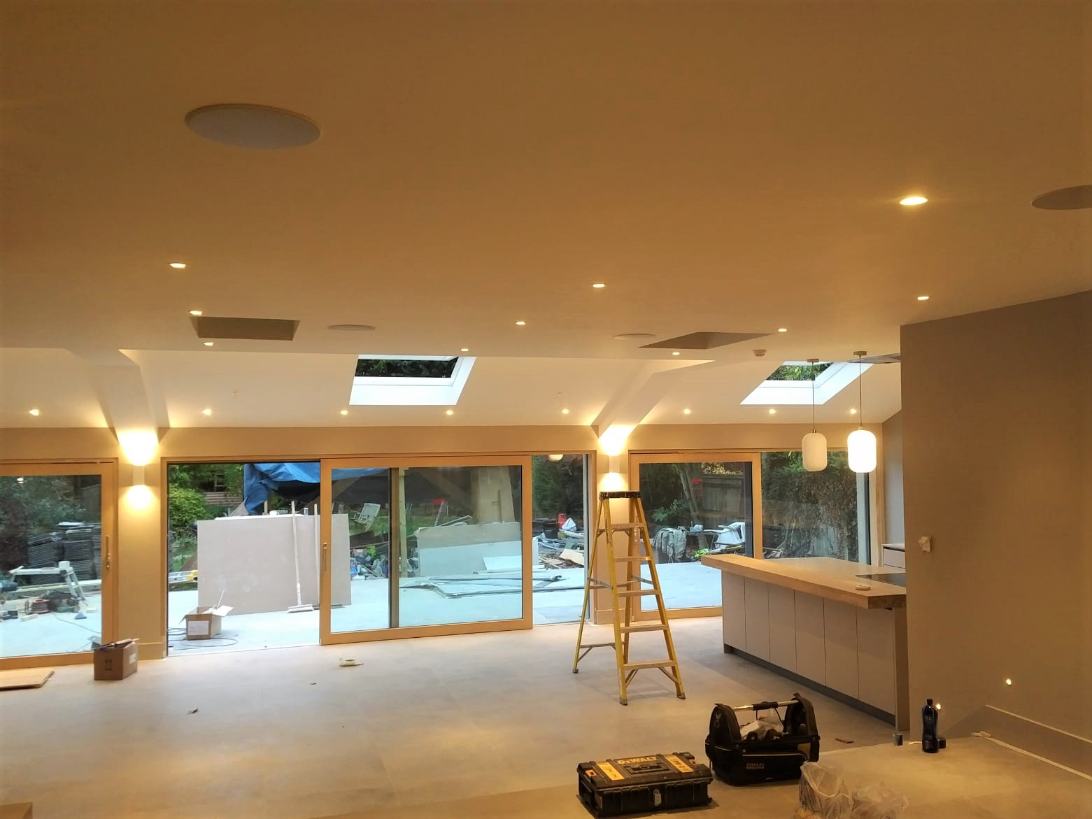 House extension and renovation construction progress