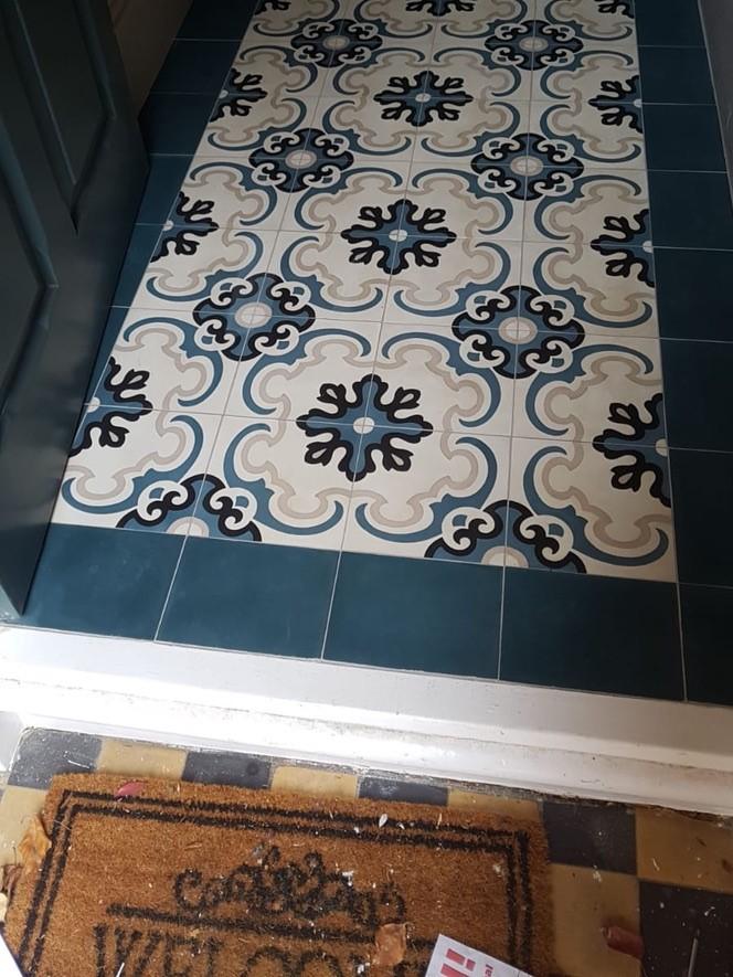 Hallway refurbishment tiles