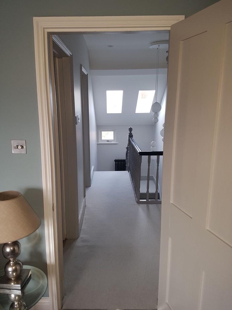 Home refurbishment pastel hallway